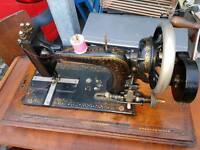 Sewing Machine - Antique Perbio Singer Hand Sewing Machine