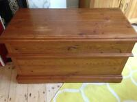 Solid wood blanket box / toy chest