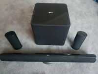 KEF Home theatre speakers HTS7001 sound bar sub