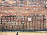 Set Of Wrought Iron Driveway Gates 9.5 - 10ft- CAN DELIVER