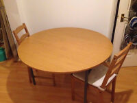 Stylish Foldable Round Wooden Dining Table Only For Sale Good Condition