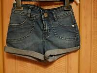 Tammy girl shorts age 7-8