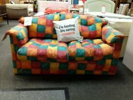 Sofa bed with foam mattress upholstered in fabric - British Heart Foundation