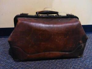 Vintage Leather Doctor's Bag - Halloween, Set Prop, Collectible!