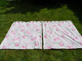 Pair of Next flower curtains