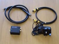 DIGITAL COAX AND OPTICAL TO STEREO ANALOGUE CONVERTER & CAMBRIDGE AUDIO INTERCONNECTS