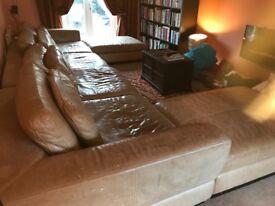 Very large Italian Leather Sofa