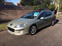 Peugeot 407 estate 2.0 diesel 06 Reg panoramic glass roof 50 mpg immaculate 1 year mot
