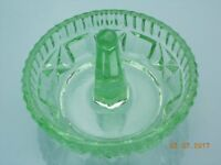 Vintage Green Glass Circular Ring Holder