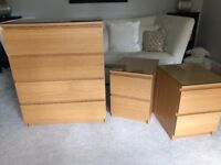 Ikea Chest of Drawers and Bedside Drawers