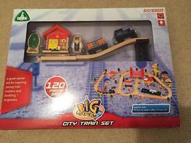 Wooden train set - ELC 120 piece set