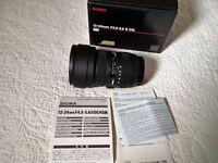 Sigma EX DG 12-24mm lens F/4.5-5.6 HSM DG AF (Canon Fit)