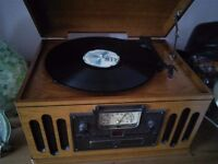Retro record,cd,radio player