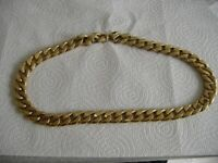 curb link chain just under 6oz GOLD LOOKOLIKE BUT LOOKS THE PART