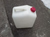 25 litre White Plastic Water Carrier