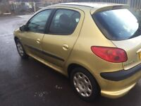 PEUGEOT 206 2005 5DR MOT TILL 09/07/2018 GOOD CONDITION