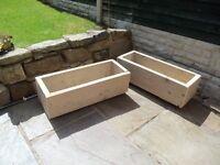 rustic garden planters £15 EACH