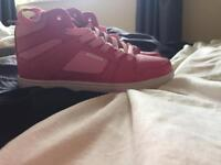 Pink air max trainers