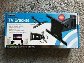 """Optimum multi-positional tilt and swivel flat panel TV bracket 15-40"""""""
