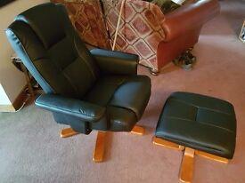 Reclining/Swivel chair & Footstool.