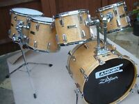 Cannon Bird's Eye maple drum shell pack - 1990s Top of the range