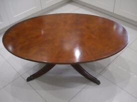 OVAL WALNUT COFFEE TABLE-FROM ARIGHI BIANCI