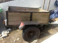 ***4 X 3 single axle wooden trailer with ladder rack . Full electrics. Great for tip runs***
