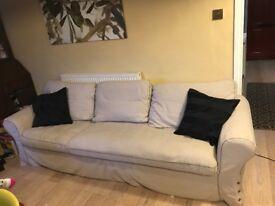 Ikea ektorp, 3 seat sofa with chaise