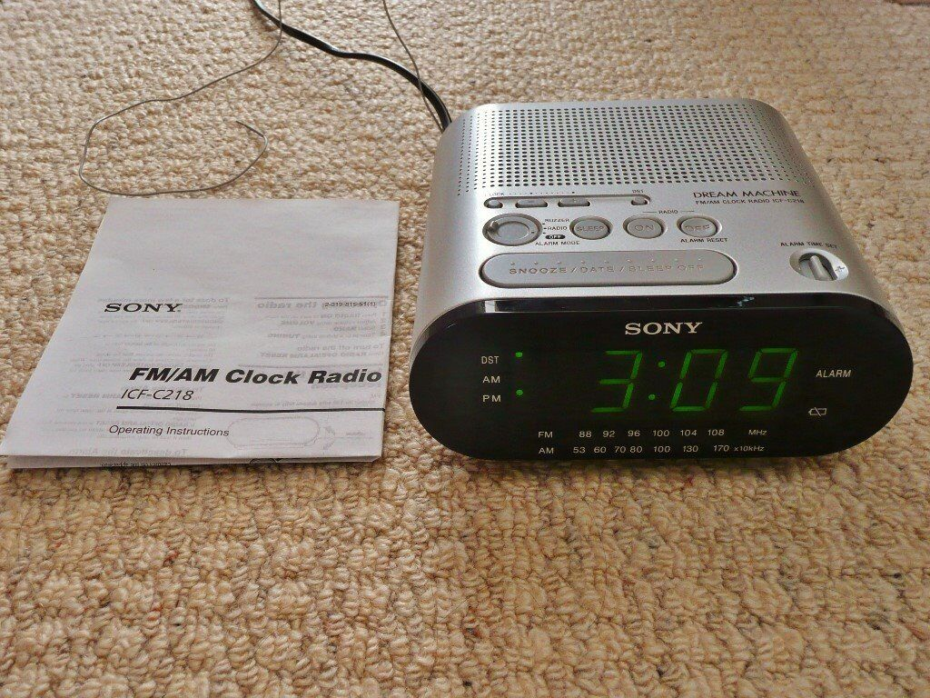Sony Dream Machine Fmam Clock Radio Alarm Icf C218 In Wickford