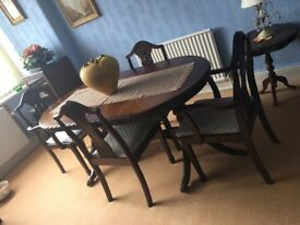 Mahogany dining table and six chairs ... excellent condition... ...