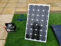 Solar panel with pure sin inverter and leisure battery