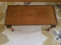 Lovely wooden glass topped coffee table