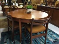 Teak Dining Table and Chairs - Retro Vintage Mid Century
