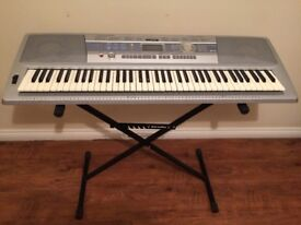 YAMAHA DGX-200 76-Key Grand Piano Electronic Keyboard - Stand, Cover, Books, Book Stand