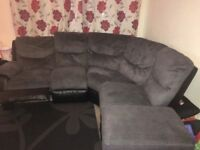 Grey Curved Corner Sofa