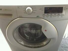 Hoover 7kg silver washing machine 12 months old