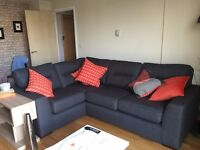 DFS Zest charcoal corner sofa - Unused, purchased for show home. In brand new condition.