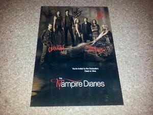 THE-VAMPIRE-DIARIES-CASTX5-PP-SIGNED-PHOTO-POSTER-12-X-8-A4-IAN-SOMERHALDER-N2
