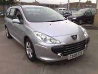 2008 08 PEUGEOT 307 1.6 HDI DEISEL ESTATE