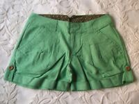 Ladies Animal shorts in green size 10