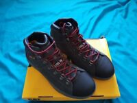Caterpillar Leather Safety Boots, Size 8, Brand New