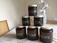 Never used perfect condition retro storage jars £20