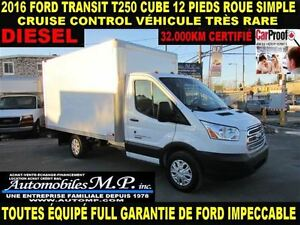 2016 Ford Transit T-250 DIESEL CUBE 12 PIEDS