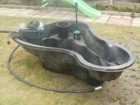 preformed fish pond,filter and pump