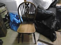 2 Old Wooden Dining Chairs
