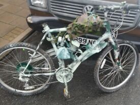 Mountain bike with 50cc engine