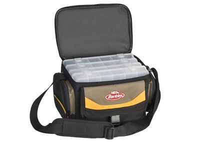 Berkley Gerätetasche mit 4 Köderboxen, Angeltasche, Spinnertasche, Gerätebox (Boxen-tasche)