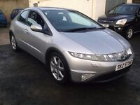 2007 honda civic ,,1.8 petrol,, one year mot,,,price;£ 2890 ono px/exch