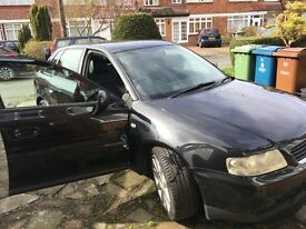 Quick sale - Black Audi A3 2003 Reg. 65k miles with Full services history