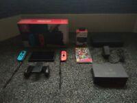 Nintendo Switch with Super Mario Odyssey